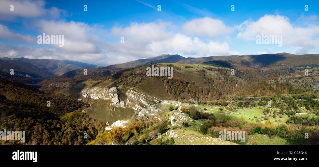 Cantabria mountains. Valles Pasiegos. Spain Stock Photo