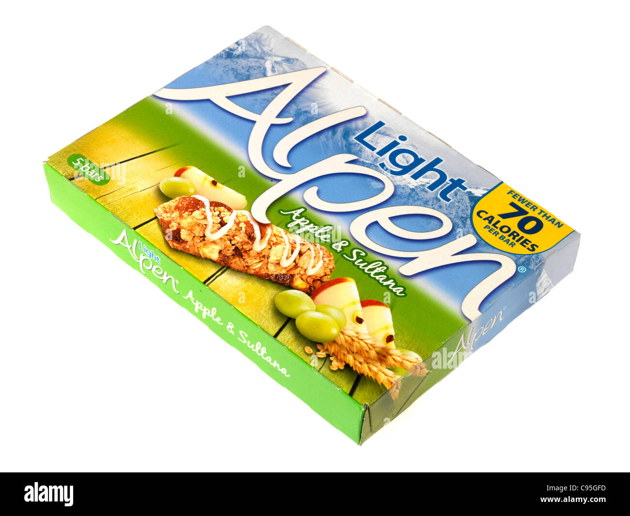 Alpen light apple and sultana cereal bars stock photo 40075377 alamy alpen light apple and sultana cereal bars aloadofball Image collections