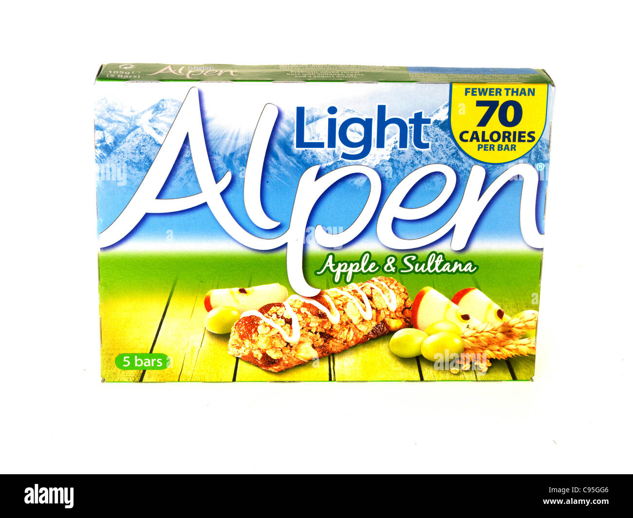 Alpen light apple and sultana cereal bars stock photo 40075398 alamy alpen light apple and sultana cereal bars aloadofball Image collections