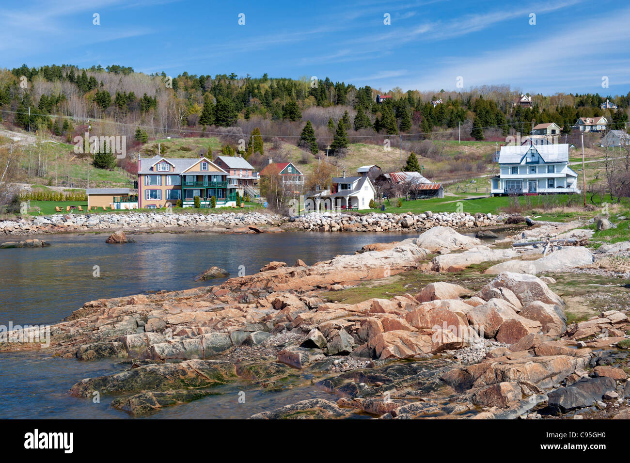 Port-au-Persil, a picturesque village in the region of Charlevoix, province of Quebec, Canada. - Stock Image