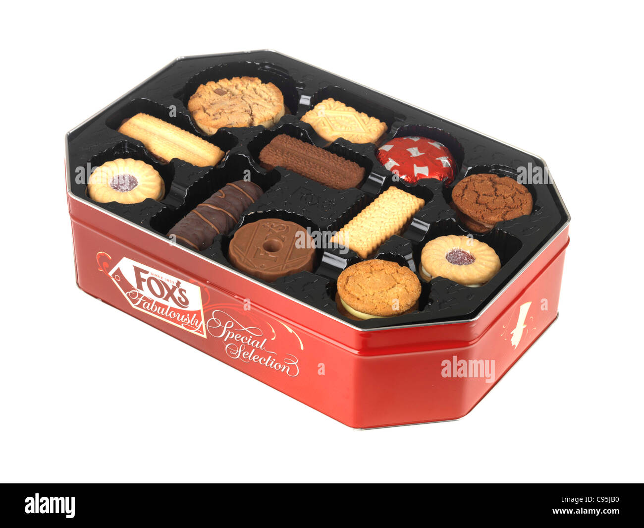 Christmas Biscuits Tin Stock Photos Christmas Biscuits Tin Stock