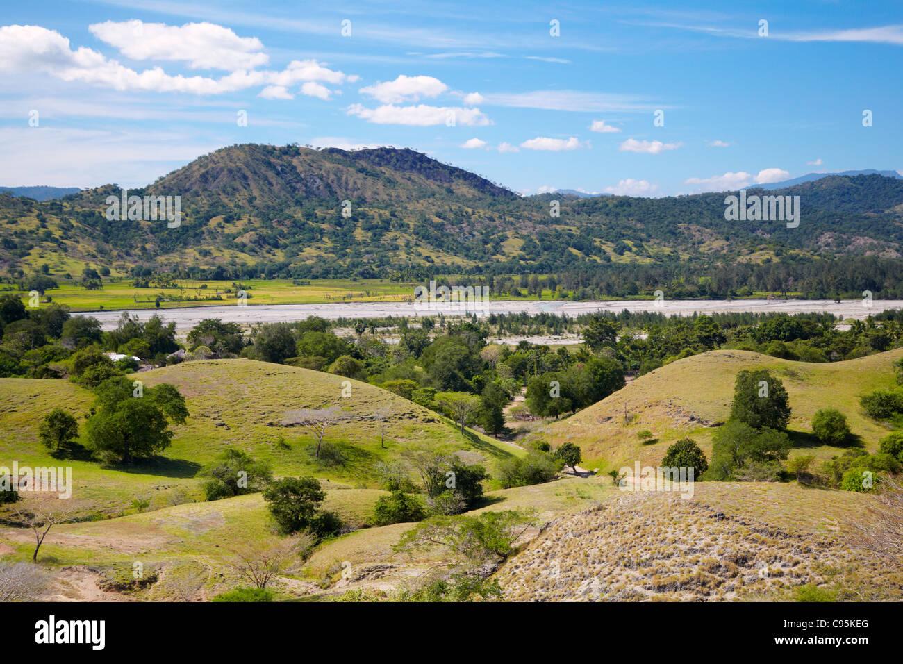 Laleia River, Timor-Leste (East Timor), Asia - Stock Image