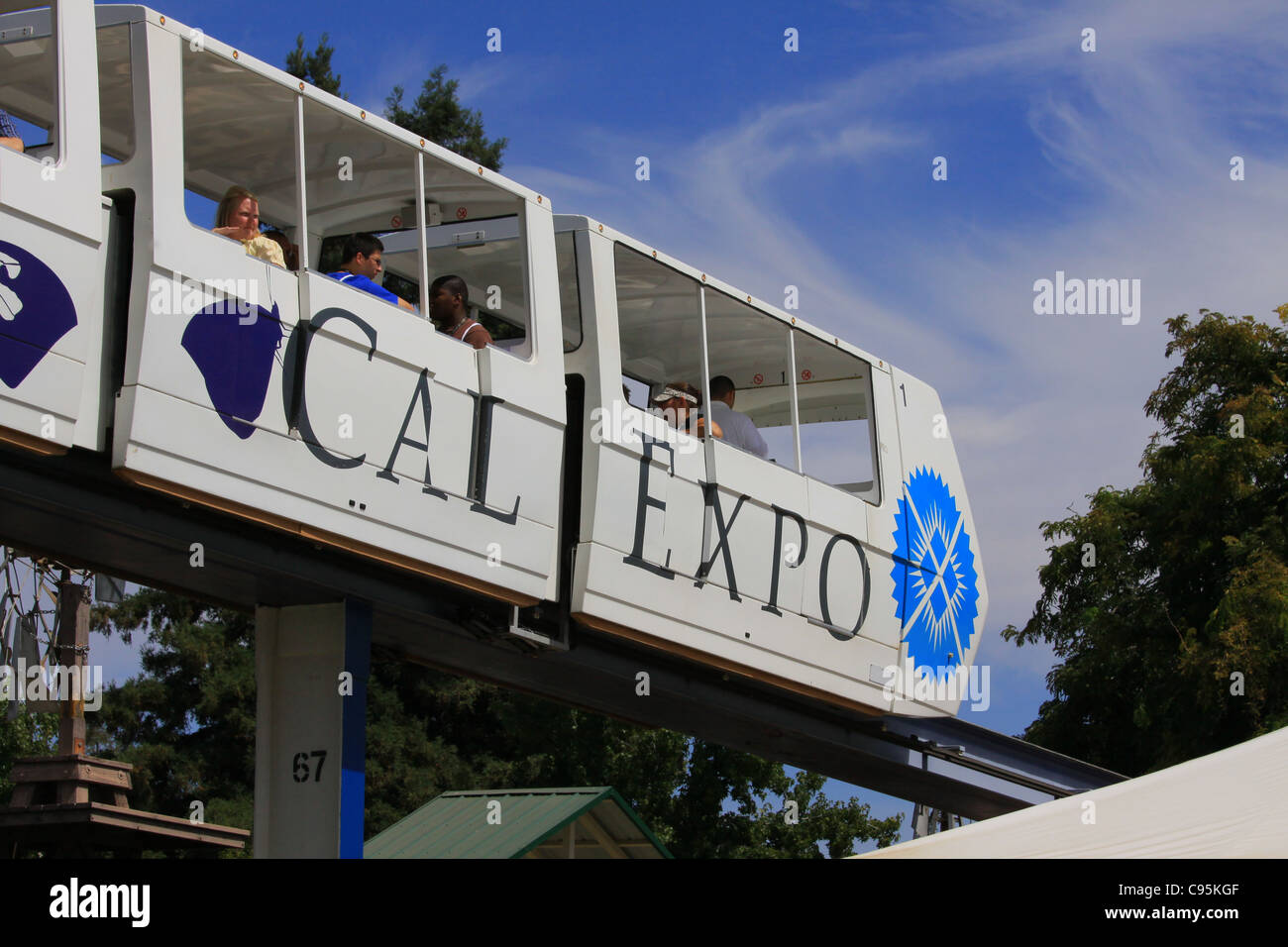 cal expo monorail at state fairgrounds in sacramento california - Stock Image