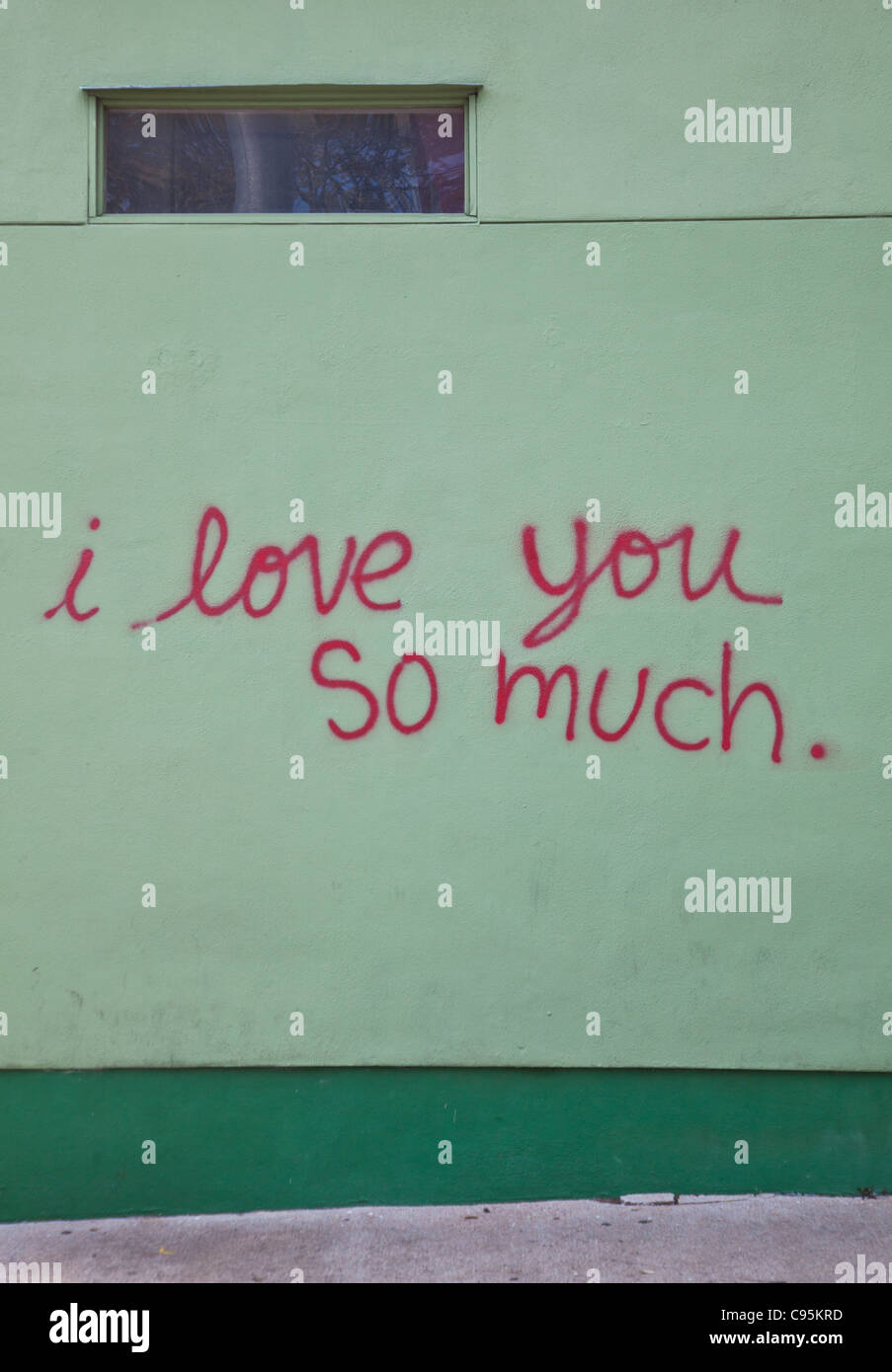 I love you so much graffiti at jos coffeeshop in austin texas