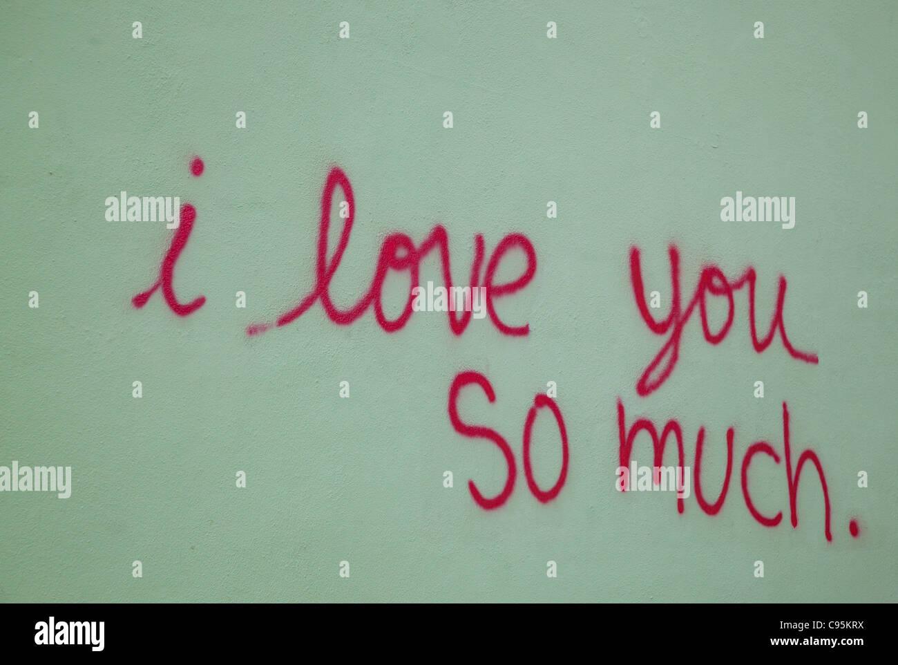 I Love You So Much Graffiti At Jo's Coffeeshop In Austin