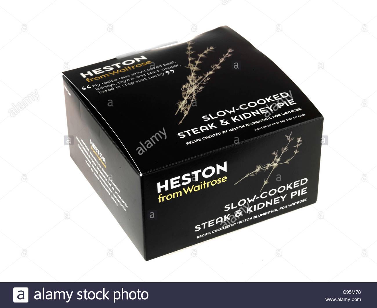 Hestons Slow Cooked Steak & Kidney Pie - Stock Image