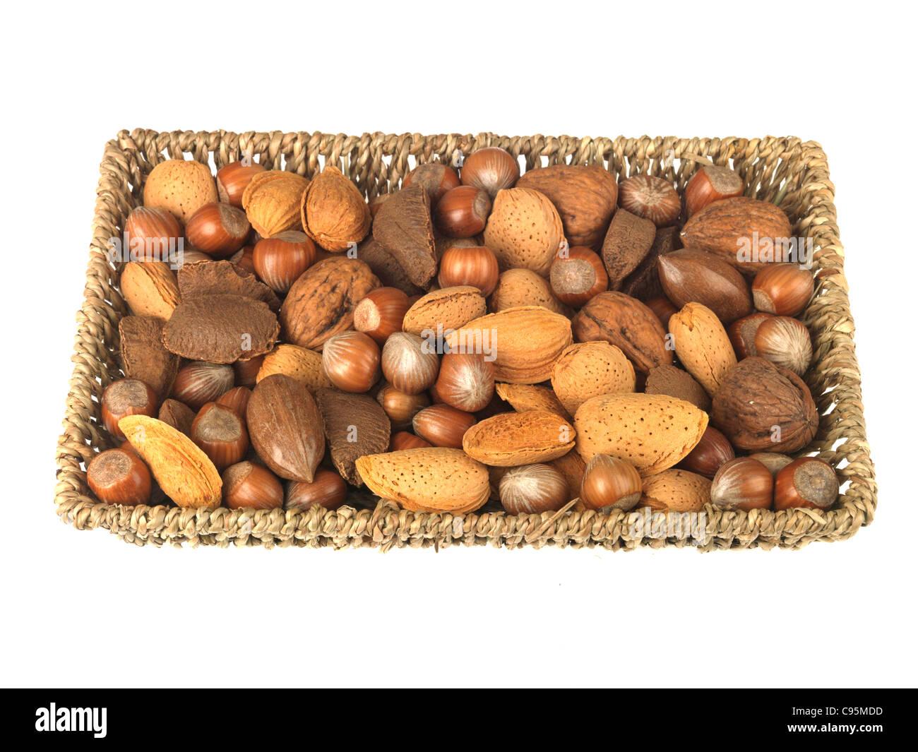 Tray Mixed Nuts - Stock Image