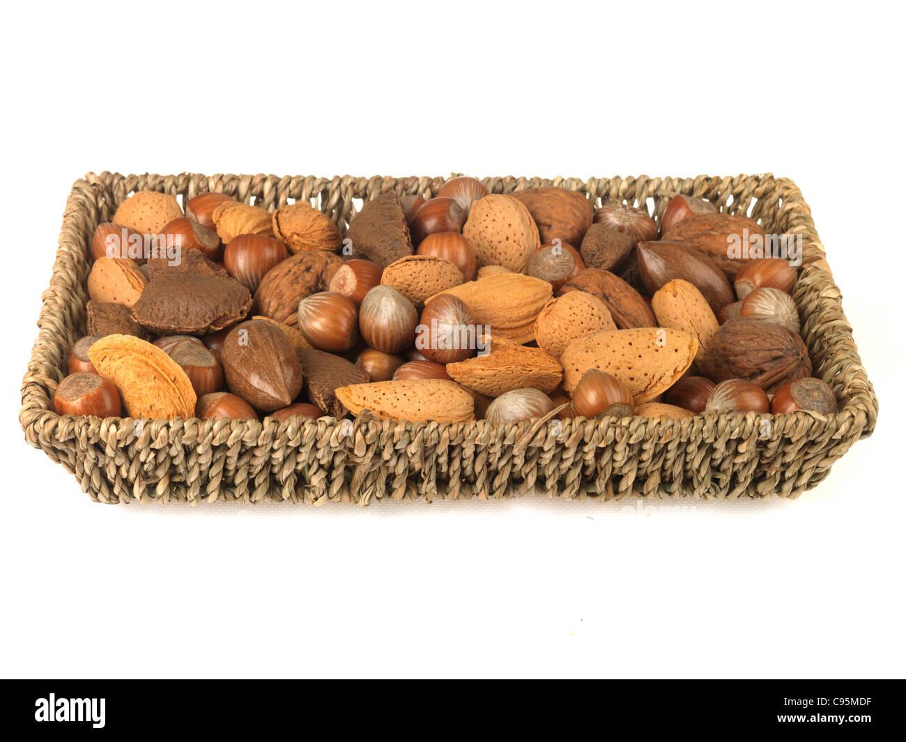 Tray of Mixed Nuts - Stock Image