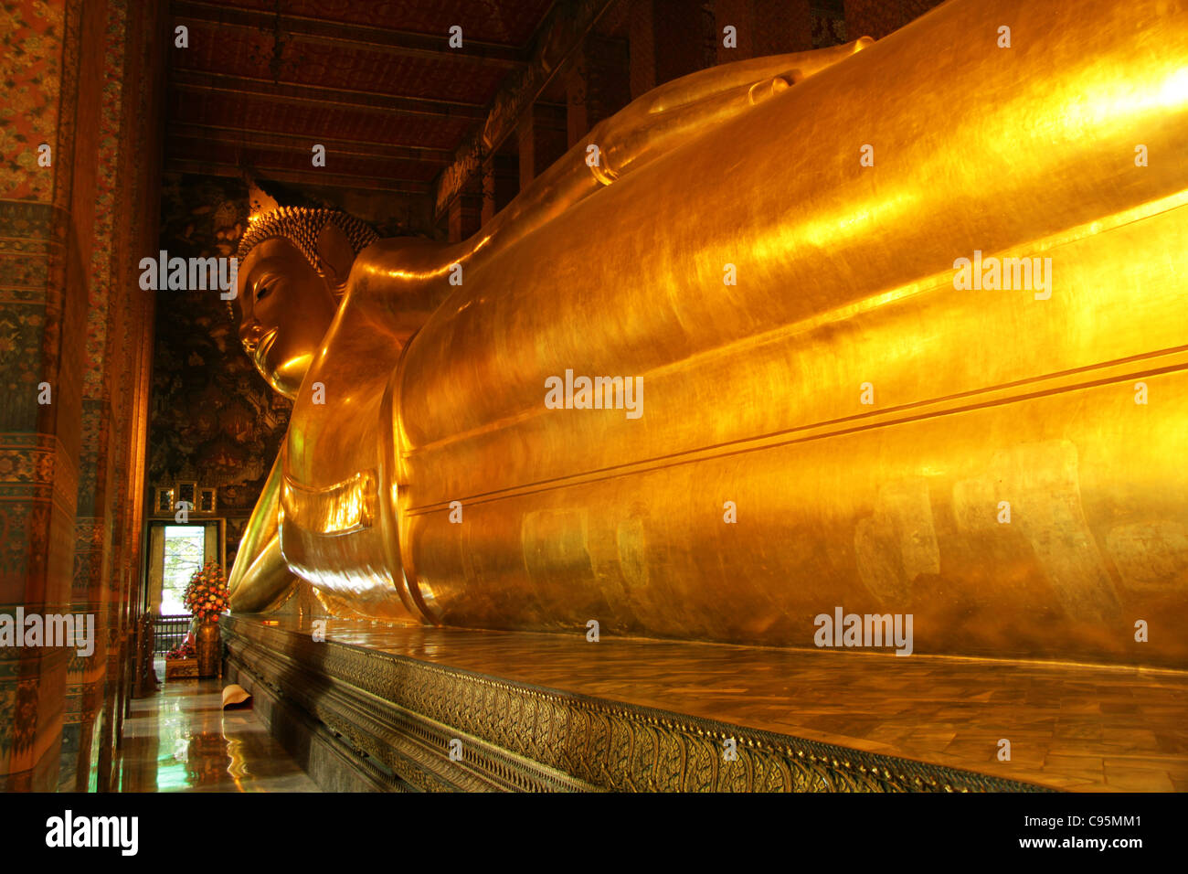 Wat Pho  (Temple of the Reclining Buddha) - Stock Image