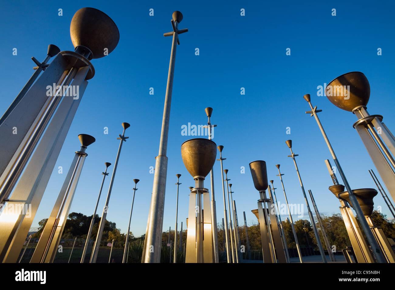 The Federation Bells in Birrarung Marr Park.  Melbourne, Victoria, Australia - Stock Image