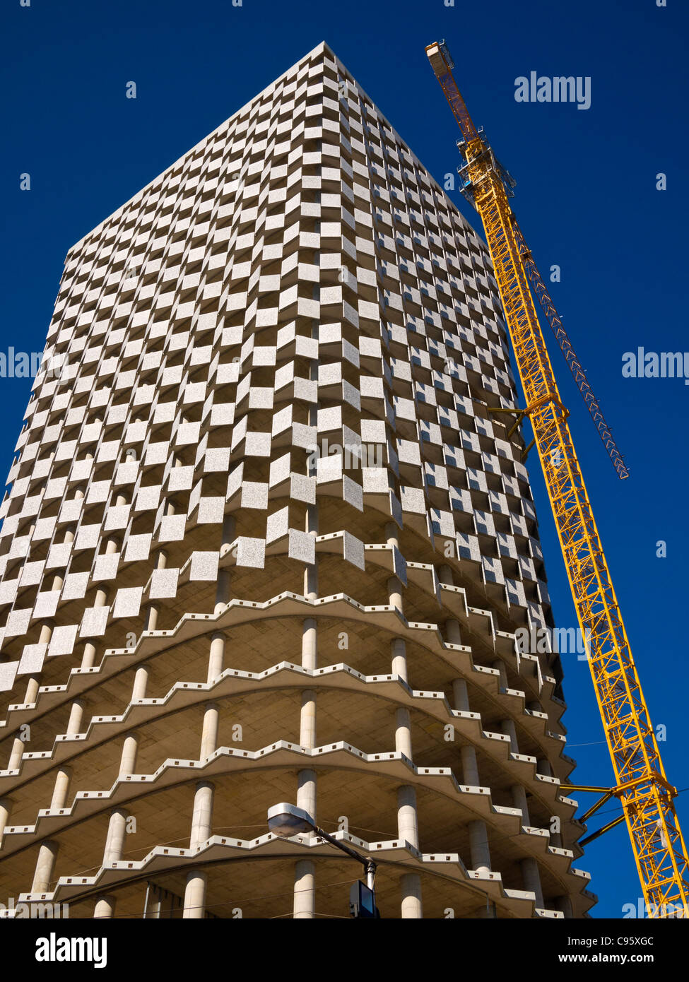 The TID Tower, Tirana, Albania, under construction in February 2011. - Stock Image