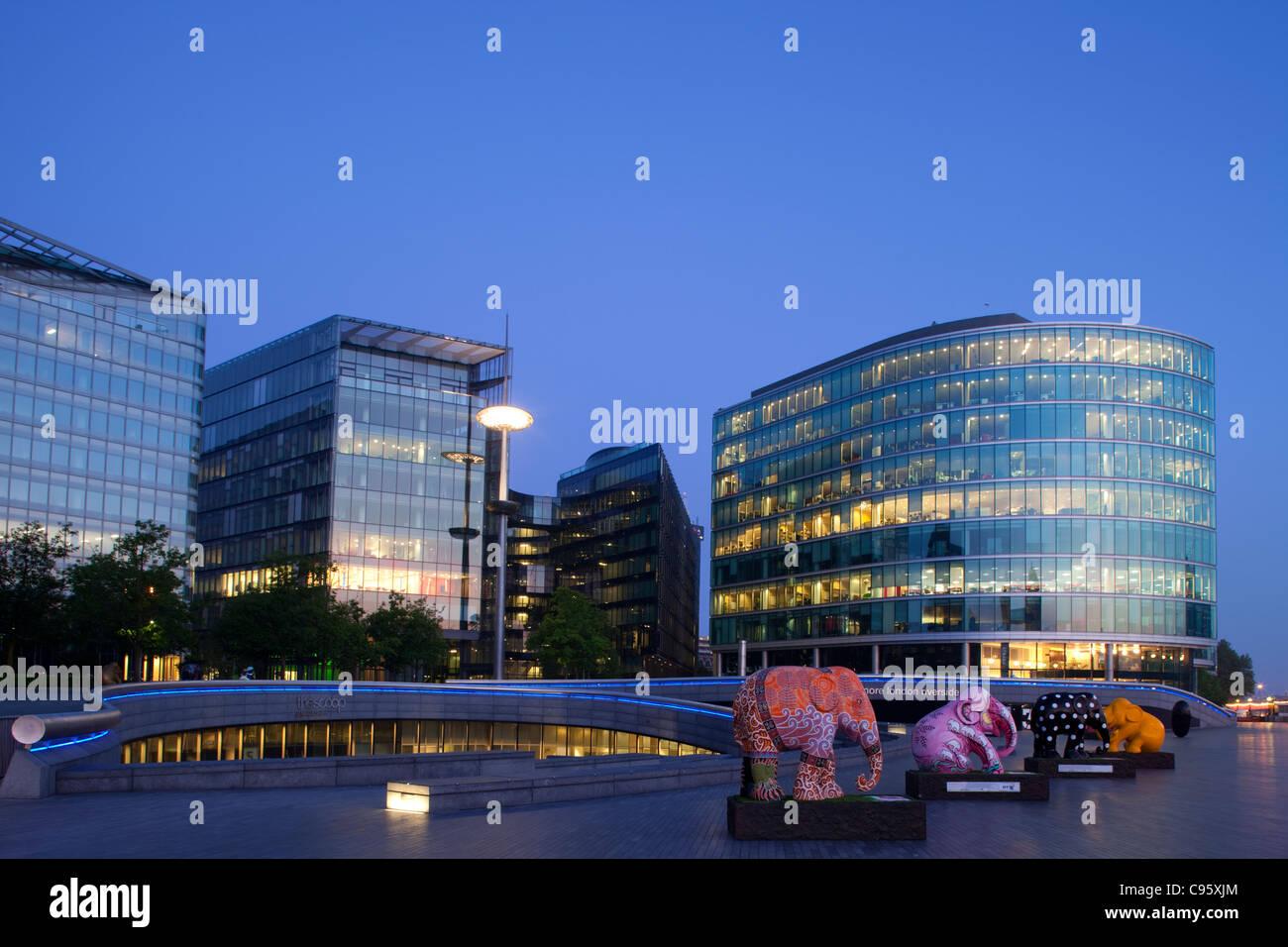 England, London, Southwark, Office Buildings in the More London Riverside Development - Stock Image