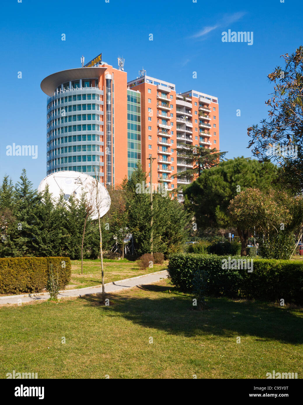 European Trade Centre, Tirana Albania Stock Photo