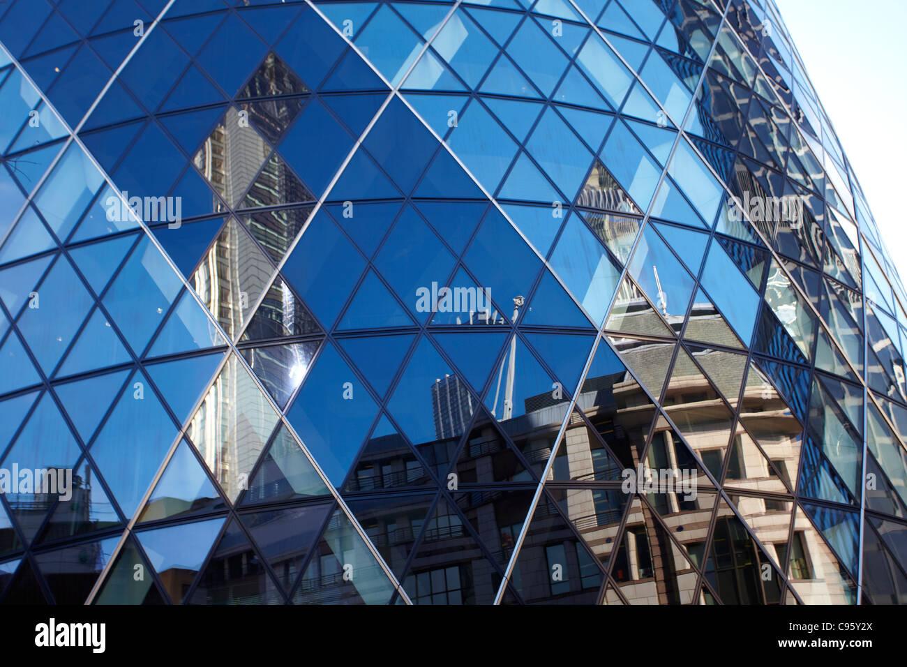 LONDON CITY MONEY GURKIN - Stock Image