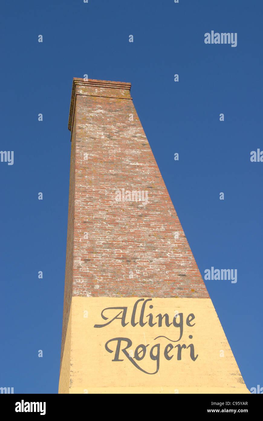 The smoke house, danish Røgeri, of Allinge on the Baltic Sea island of Bornholm Stock Photo