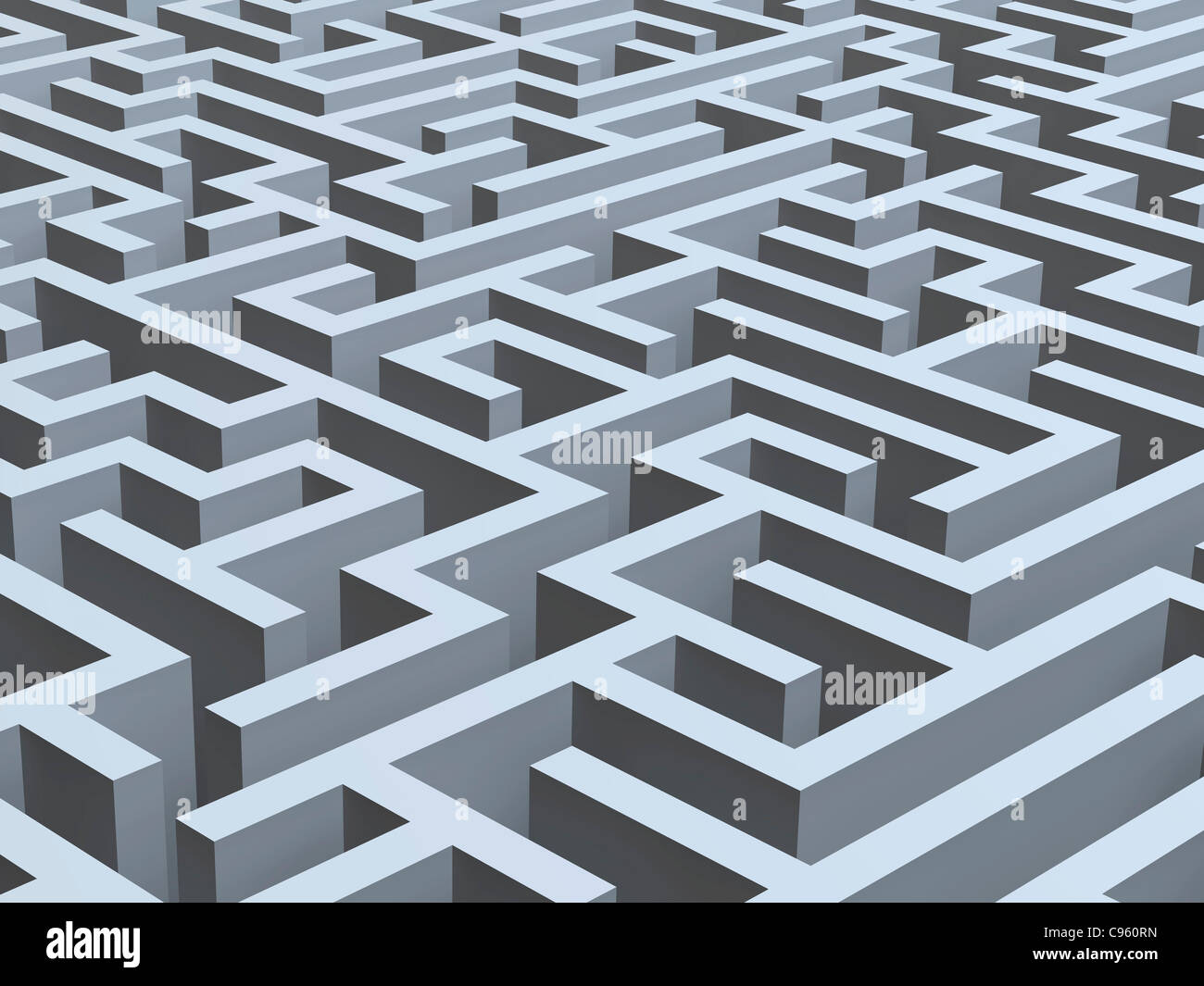 Maze  computer artwork. - Stock Image