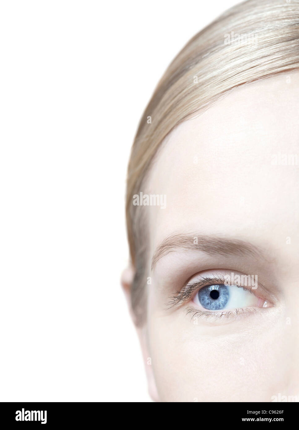 Woman's eye. - Stock Image