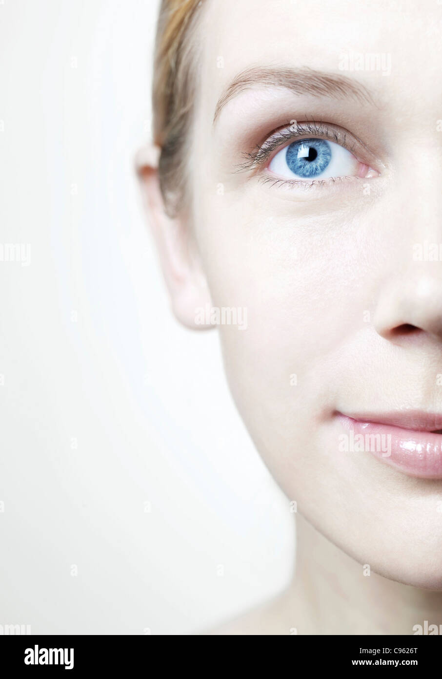 Healthy woman's face. - Stock Image