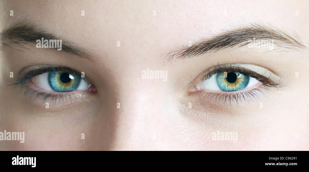 Woman's eyes. - Stock Image