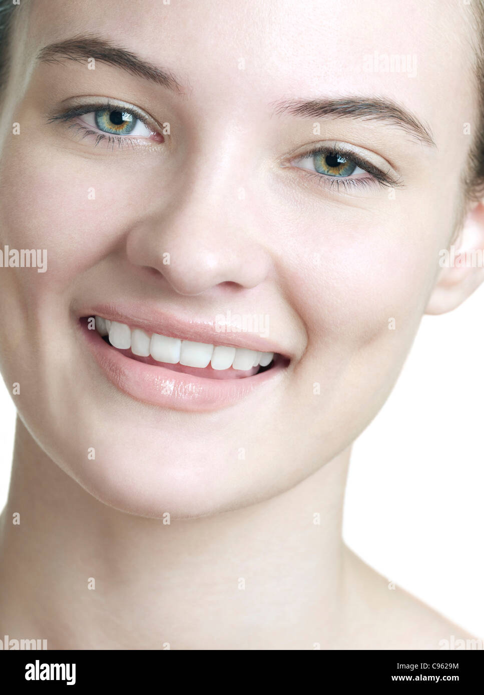 Happy young woman. - Stock Image