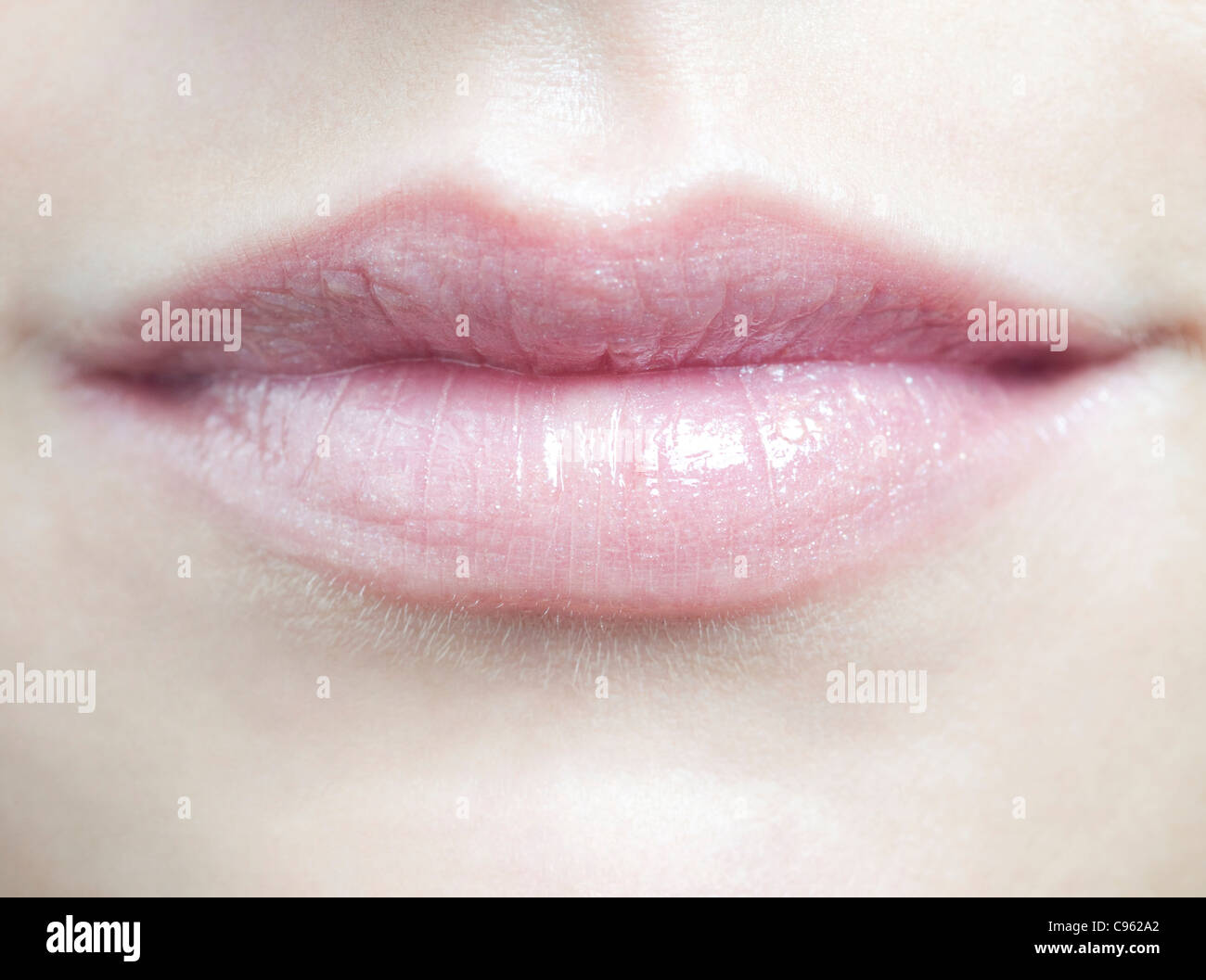 Woman's mouth. - Stock Image