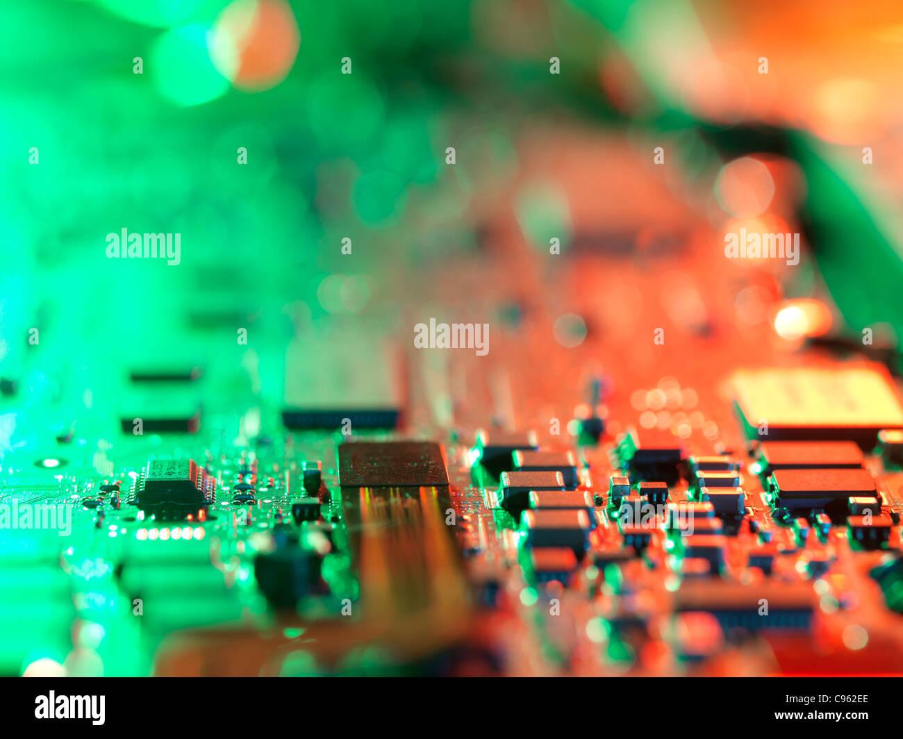 Laptop circuit board. - Stock Image