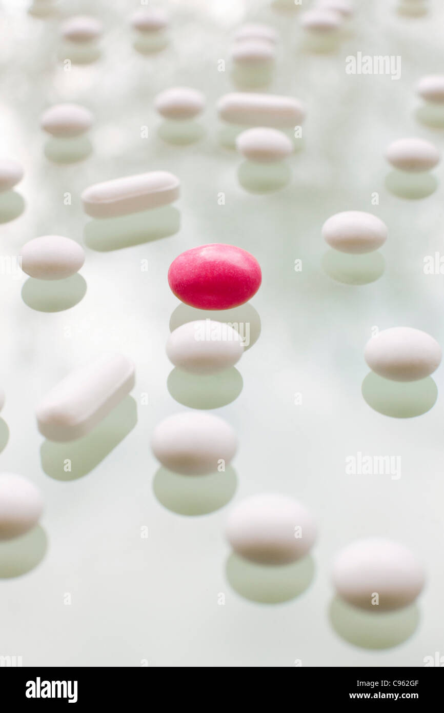 Pills. - Stock Image