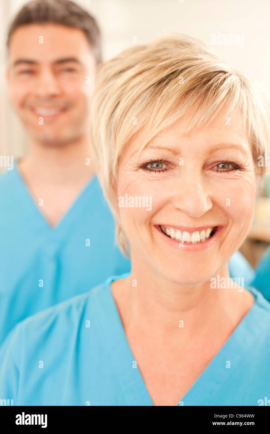 Hospital staff. - Stock Image