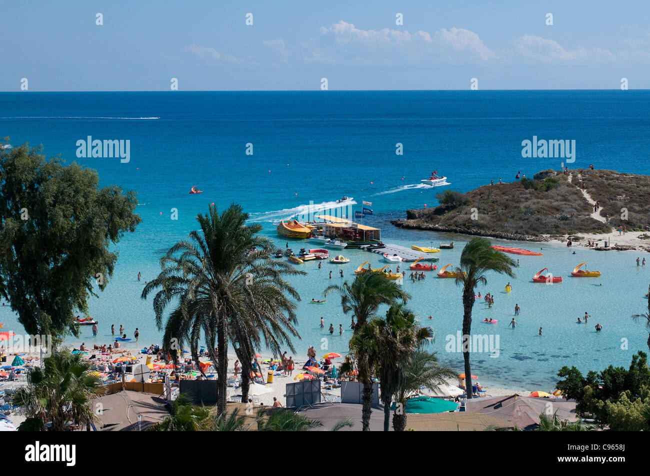 Watersports at Nissi Beach, Ayia Napa, Cyprus - Stock Image