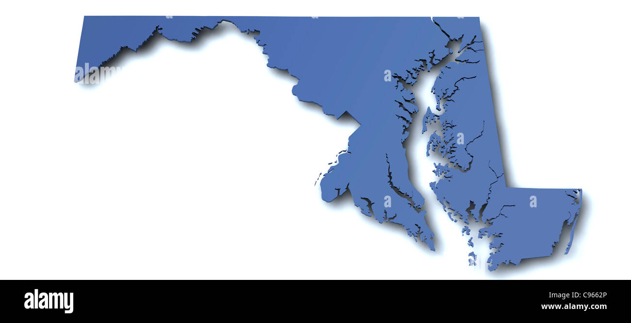 Maryland Map Stock Photos Maryland Map Stock Images Alamy