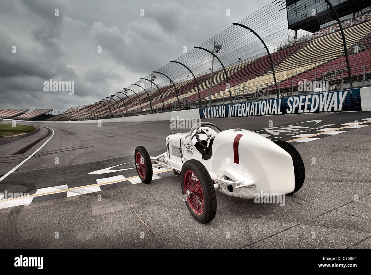 1923 Miller 122 winner of Indianapolis 500 race - Stock Image