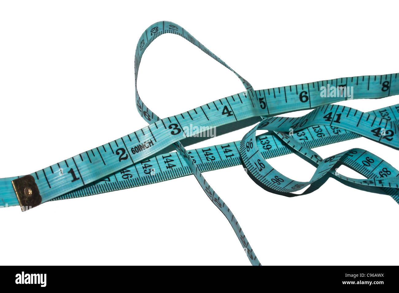 A tailor's measuring tape - Stock Image