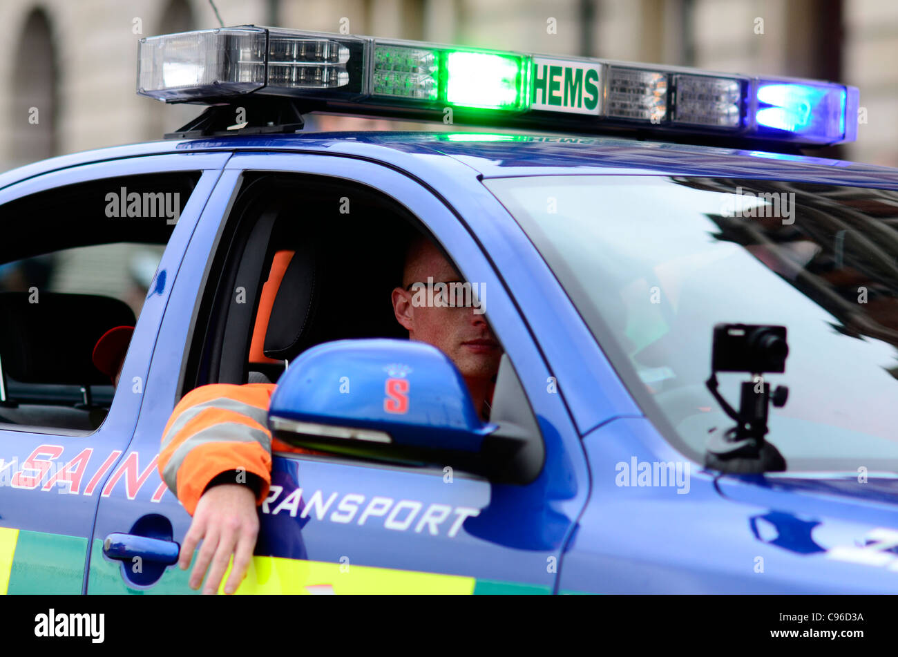 Hems medical emergency response vehicle at Lord Mayors Show 2011 - Stock Image