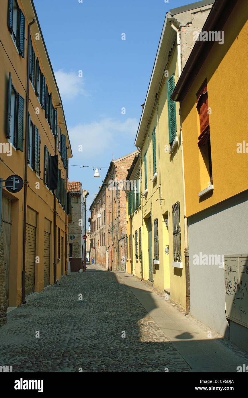 Sreet in Ferrara Italy Stock Photo