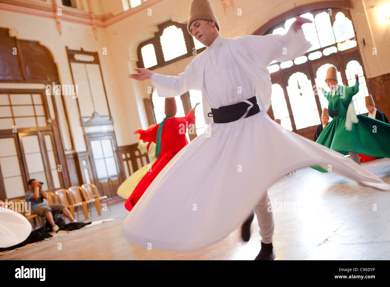 Whirling Dervishes - Istanbul, Turkey - Stock Image
