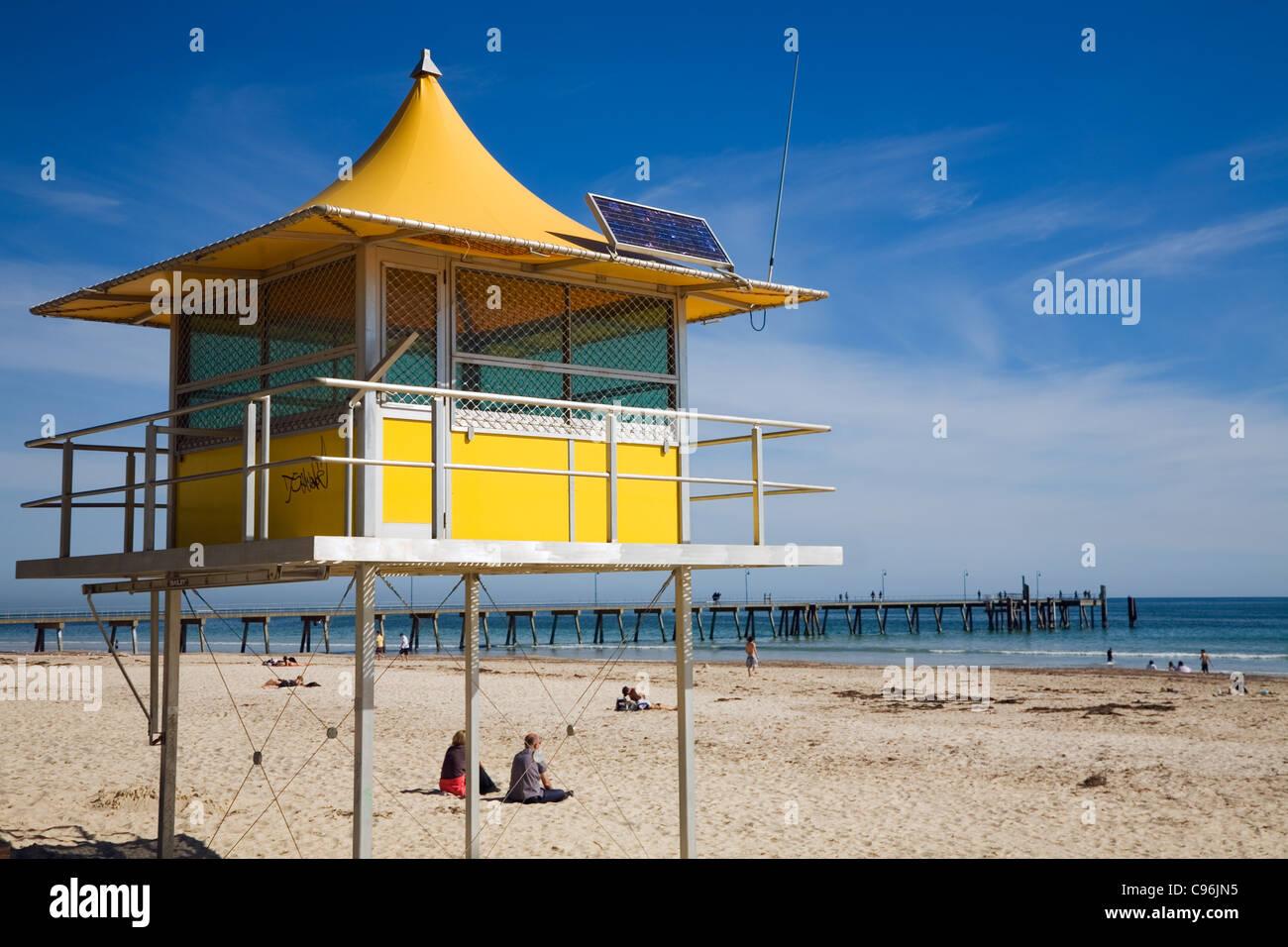 659453b1c0e Lifeguard tower at Glenelg Beach. Adelaide