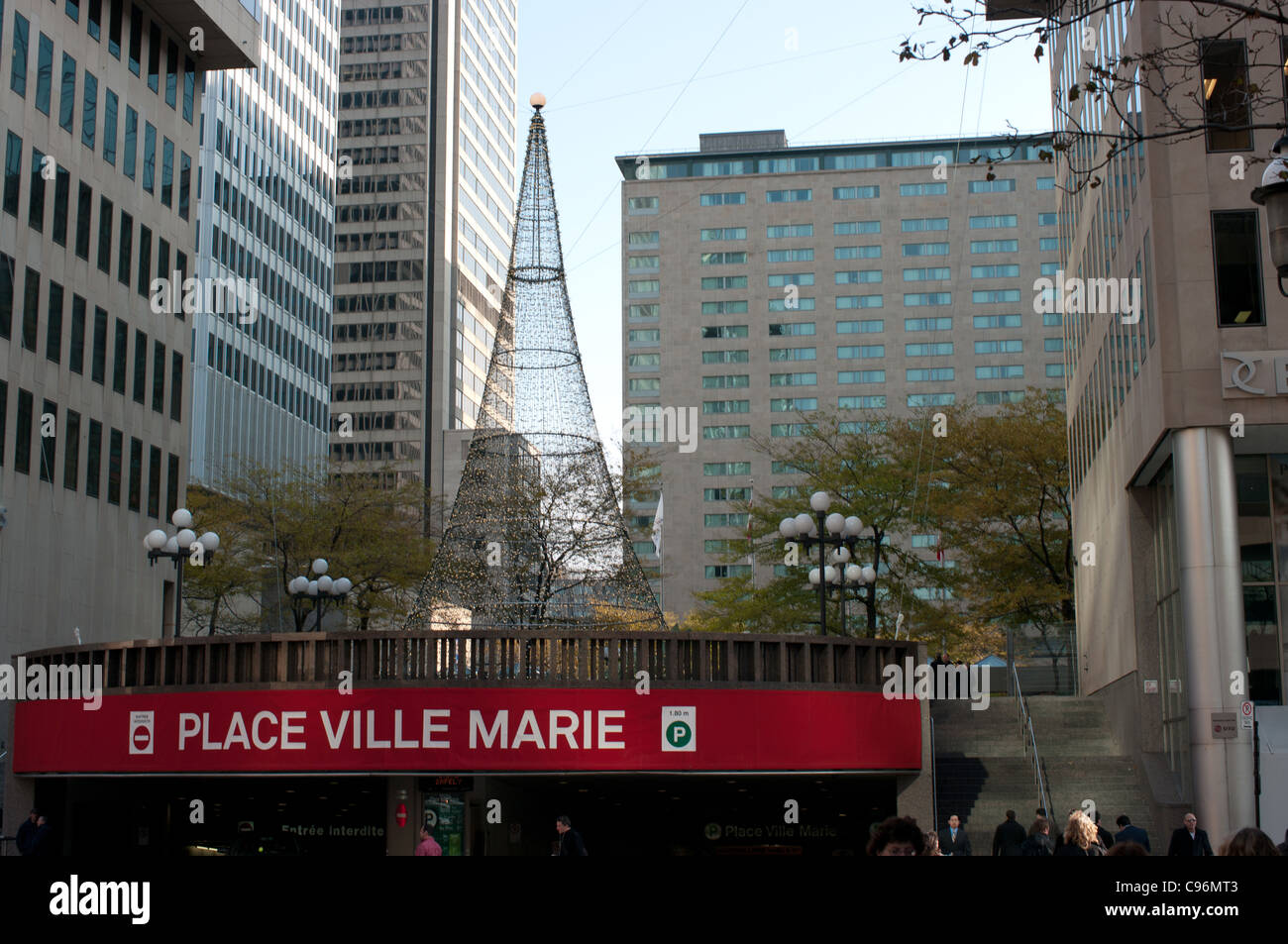 Place Ville Marie entrance to indoor parking, Downtown, Montreal, Quebec, Canada Stock Photo