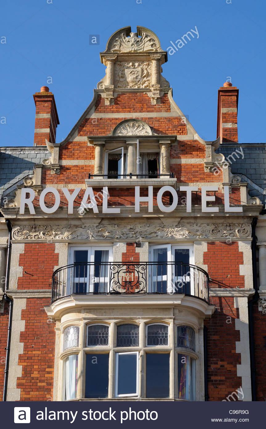 Royal Hotel built in 1897, Seafront Weymouth, Dorset England - Stock Image