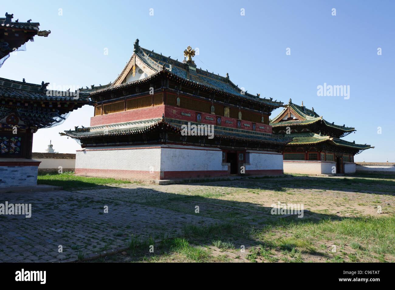 Temples of Erdene Zuu Monastery (khiid), Karakorum, Mongolia. Unesco World Heritage site. - Stock Image