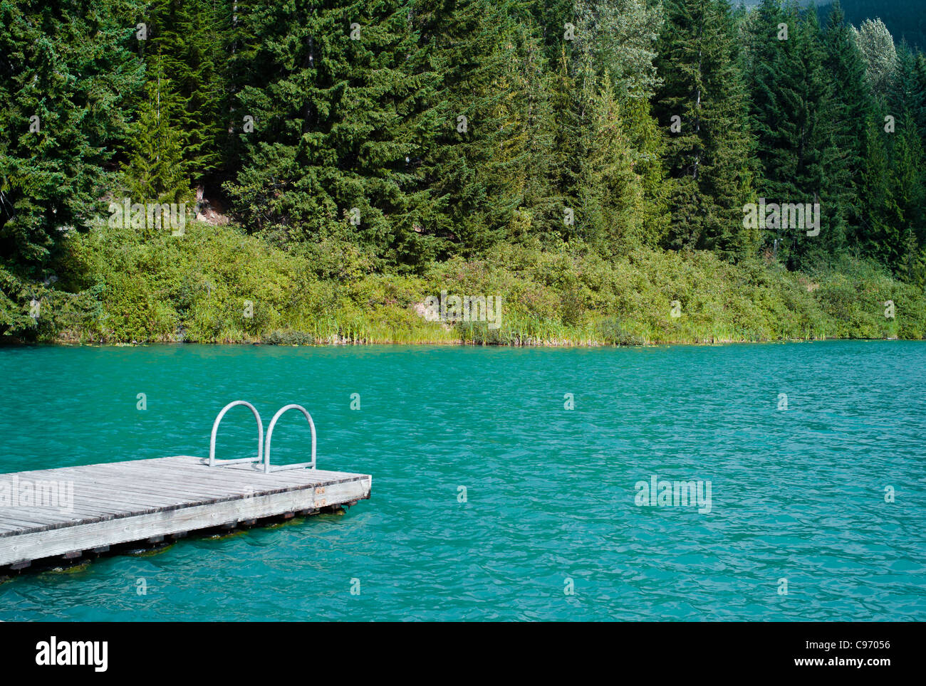 lost lake near whistler blackcomb in summer Stock Photo