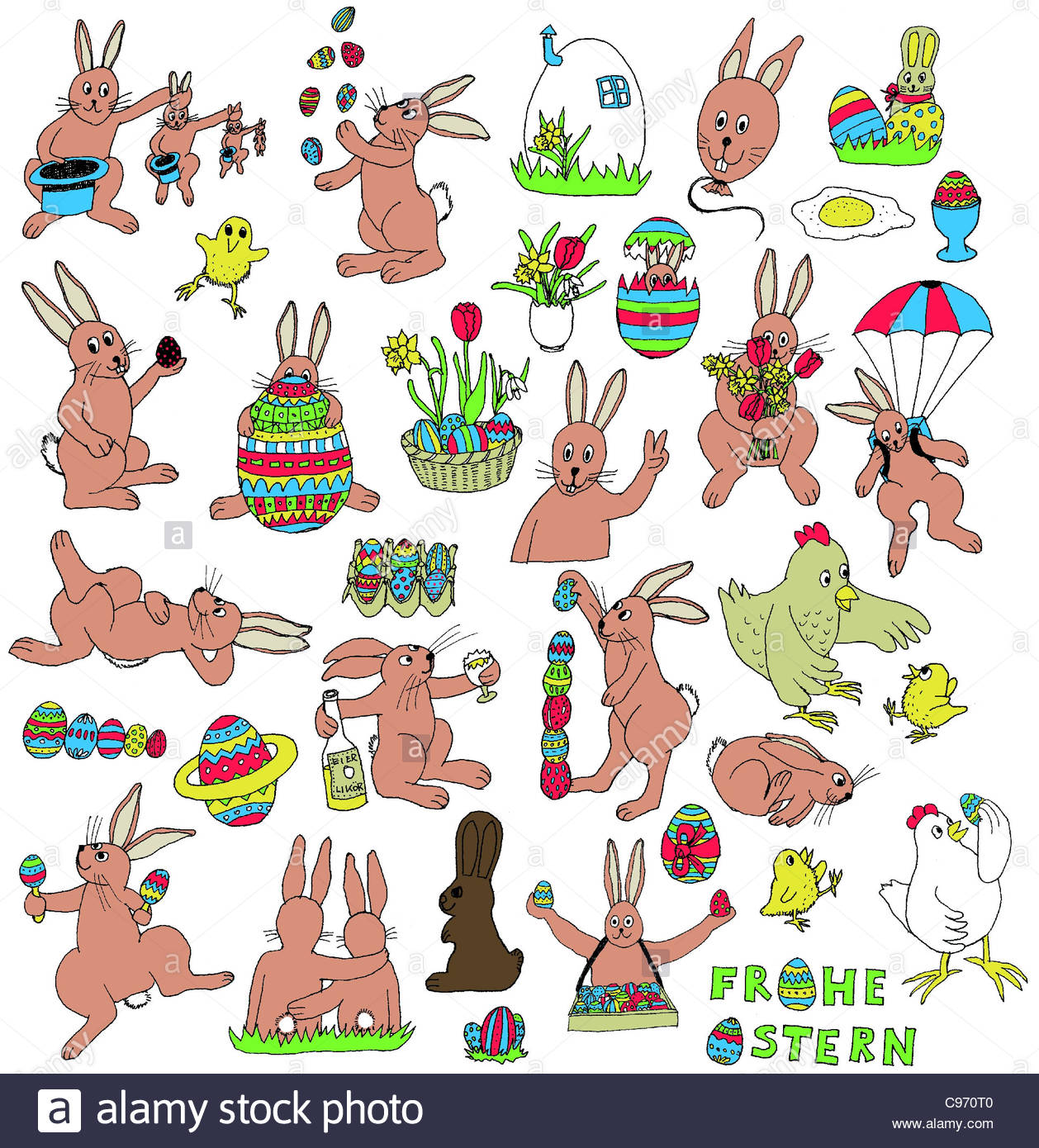 Easter Bunny Embroidery Designs Easter Bunny Stickers Stickers Stock