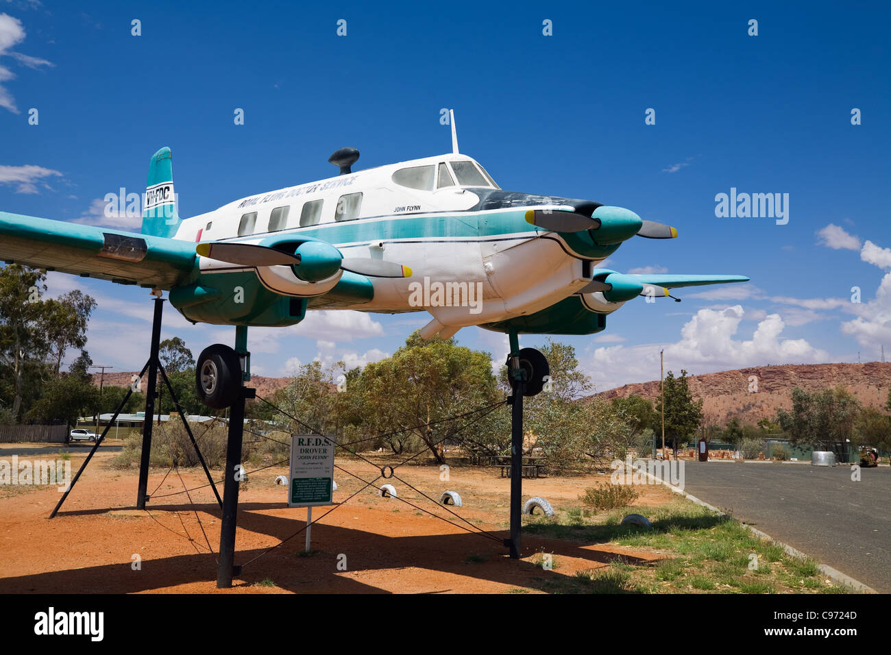 Royal Flying Doctor Service exhibit at the Alice Springs Aviation Museum.  Alice Springs, Northern Territory, Austtralia - Stock Image