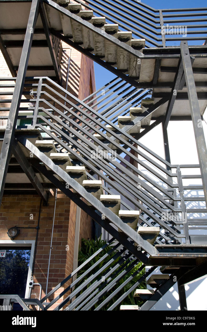Buildings External Metal Fire Escape,australia   Stock Image