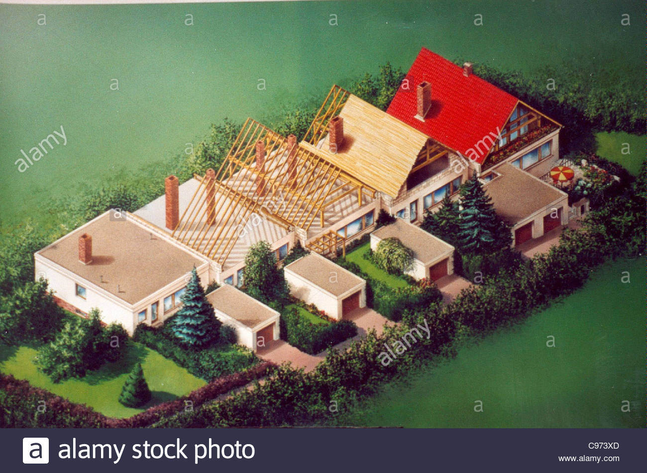 Townhouse-settlement in Structure - Stock Image