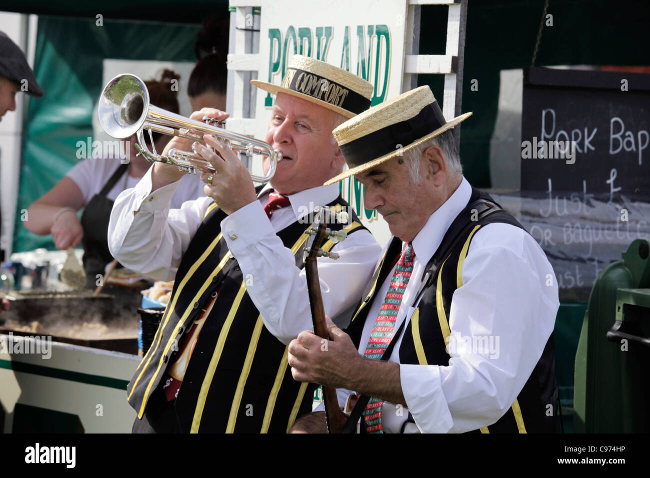 Riverboat Days duo performing at Gransden and District Agricultural Show 2011 - Stock Image
