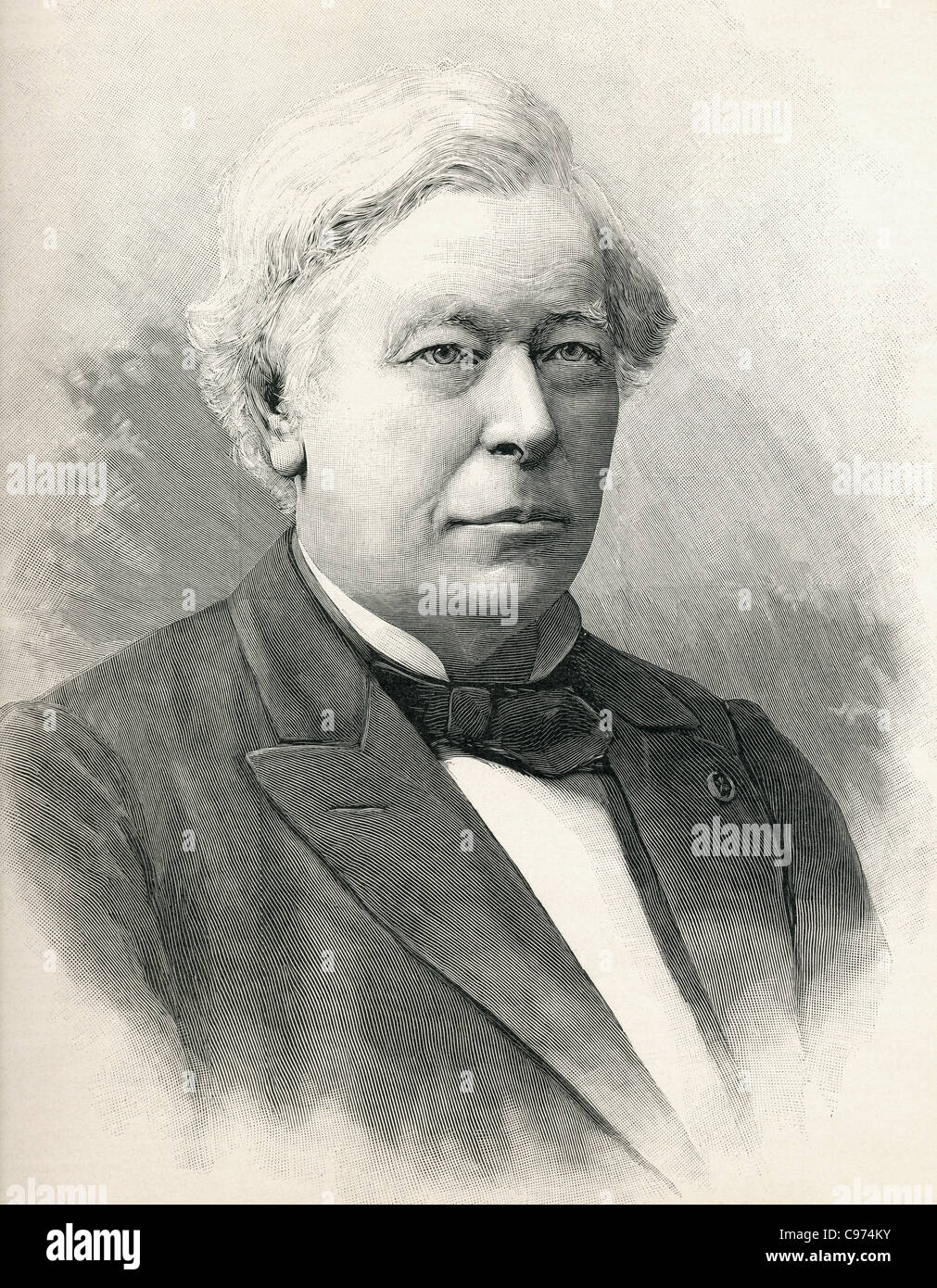 Hervé Auguste Étienne Albans Faye, 1814 – 1902. French astronomer. - Stock Image