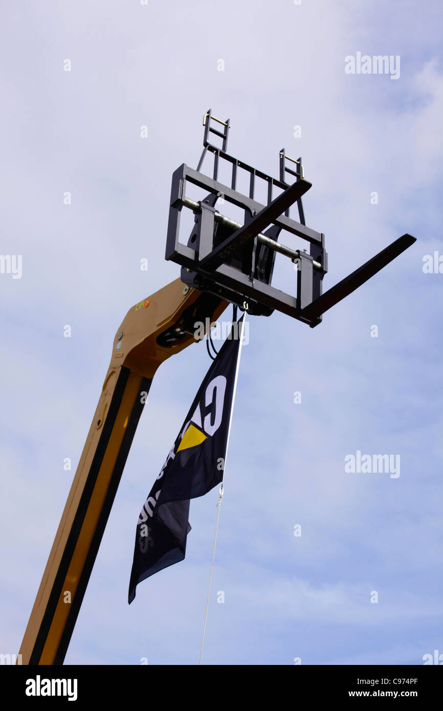 Forklift head of telescopic handler Stock Photo