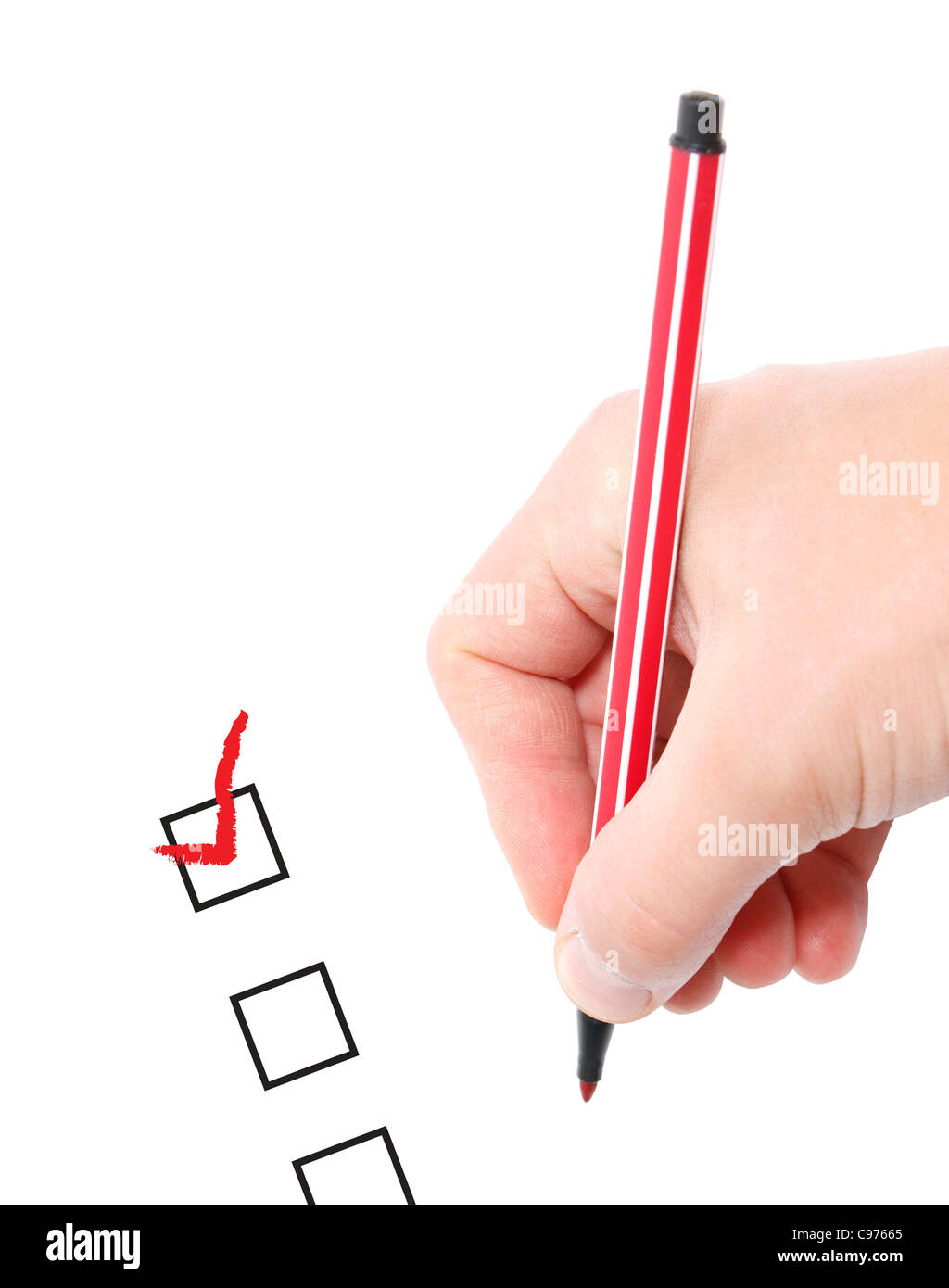 A survey on white paper - Stock Image