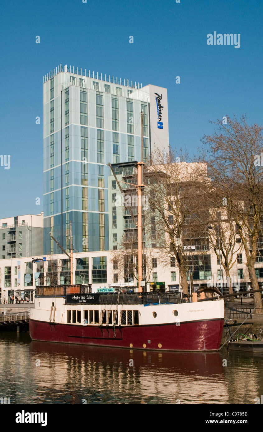 Bristol Radisson Blu Hotel Harbour City West of England - Stock Image