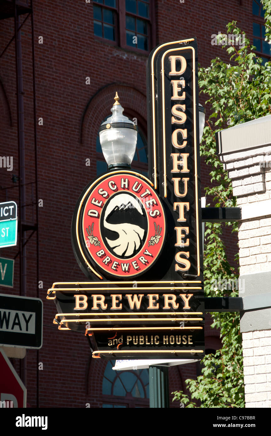 Deschutes Brewery Beer Portland Oregon United States of America USA - Stock Image